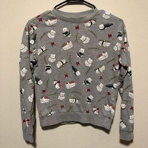 Divide Sushi Cat Crewneck Sweatshirt
